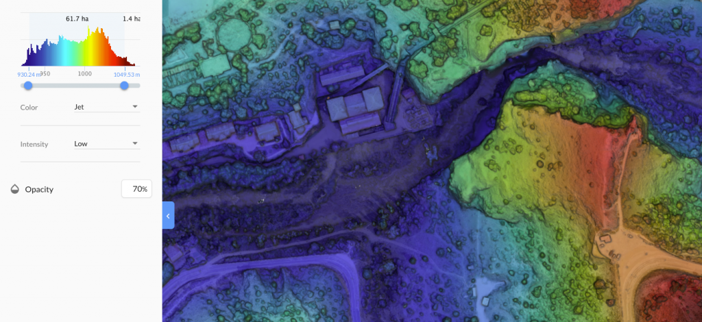 elevation maps with drones