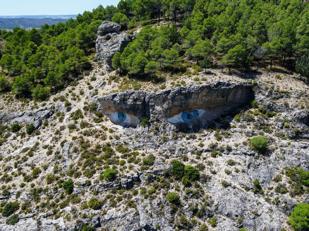 Aerial drone photography up-and-down - Spain